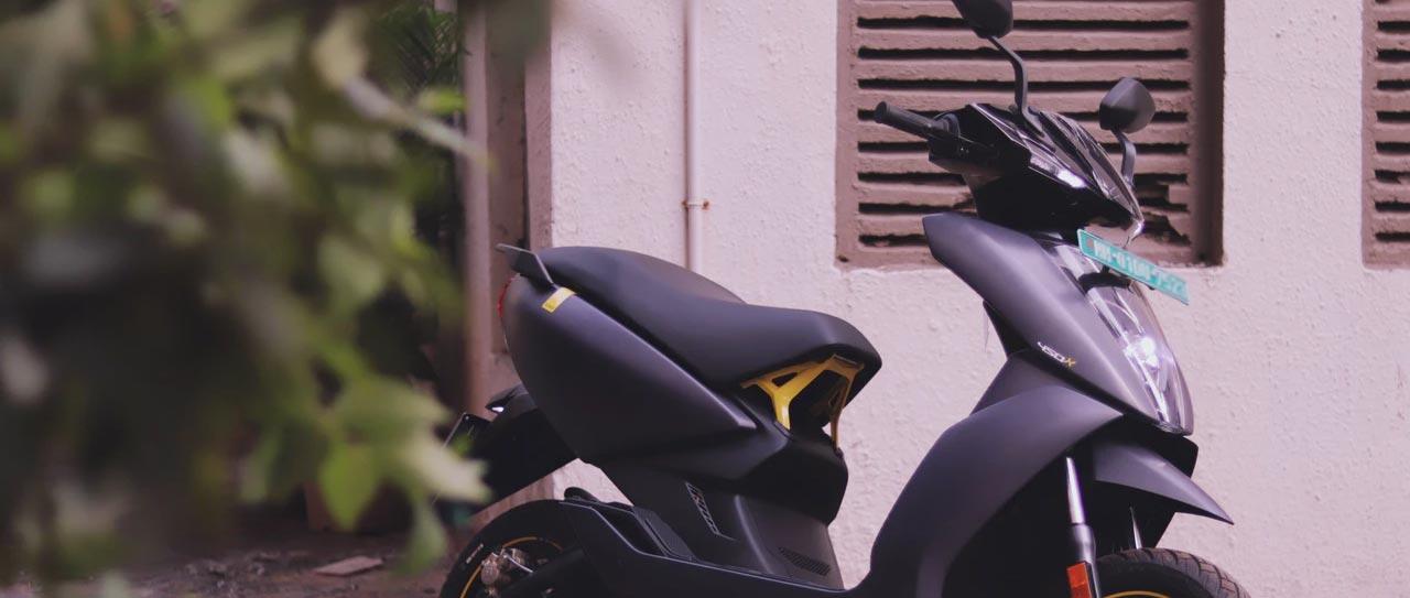 Variera körningen med en elsparkcykel